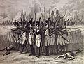 """Las Glorias Nacionales, 1852 """"El último cuadro francés roto por los españoles en Bailén"""". (4013198487).jpg"""