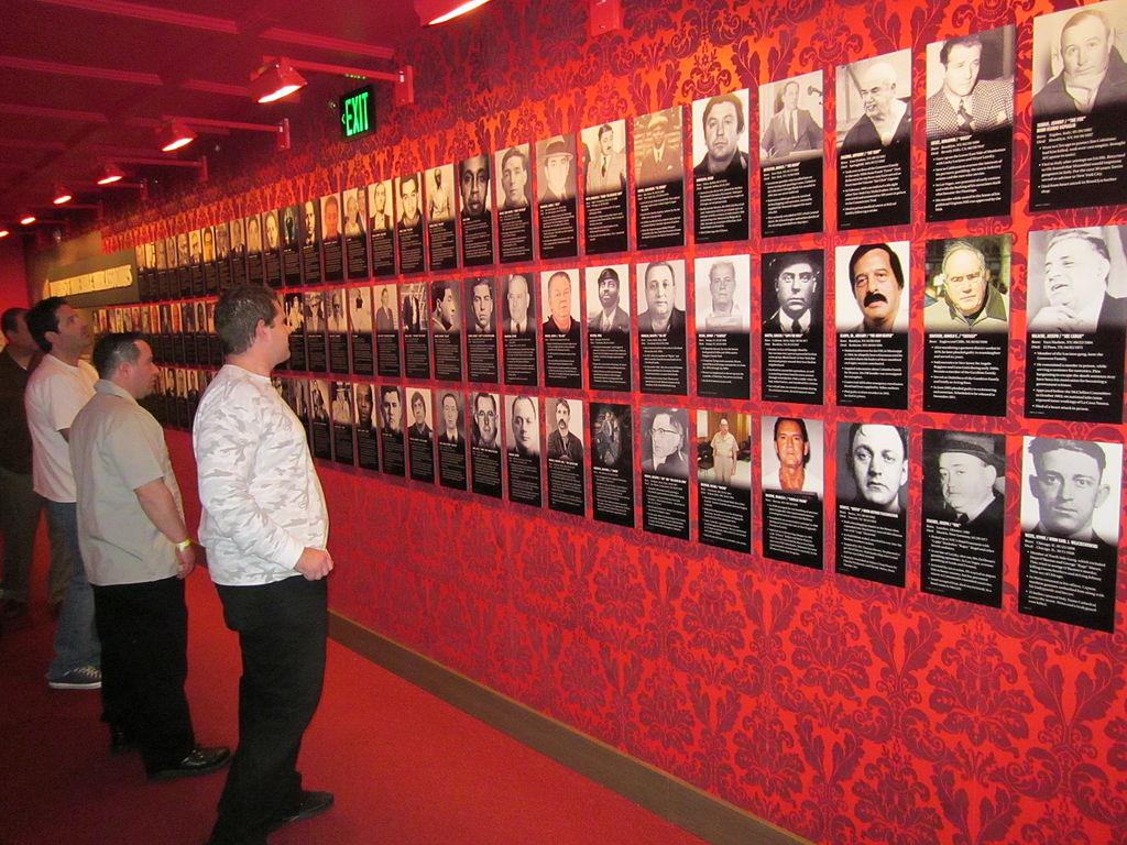 Las Vegas Mob Museum Wall of Mobsters