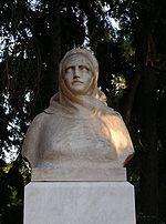 Προτομή της Μπουμπουλίνας στο Πεδίο του Άρεως, στην Αθήνα