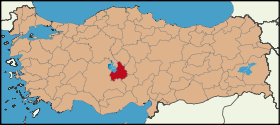Latrans-Turkey location Aksaray.svg