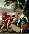 Laurent de La Hyre - Theseus And His Mother Aethra, 1635-36.jpg