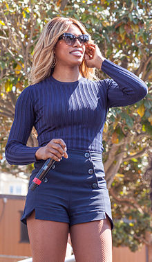 20cc58bd7da LGBTQ activist and actress Laverne Cox at San Francisco Trans March 2015.
