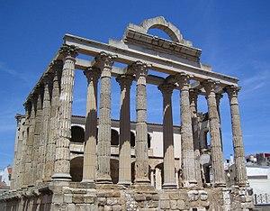 Roman Forum (Mérida) - The Temple of Diana.