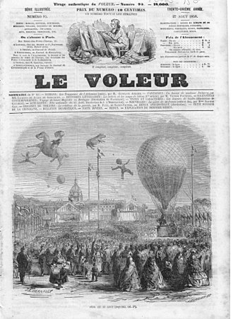 Le Voleur (magazine) - Cover of the 27 August 1858 issue