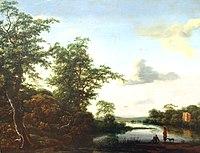 Leipzig, Museum der bildenden Künste, Jacob van Ruisdael, Landschaft bei Morgenstimmung.JPG