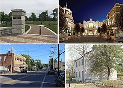 From top left: Lemay Park, River City Casino, South Broadway, Jefferson Barracks Historic District