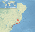 Leucopternis lacernulata distribution map.png