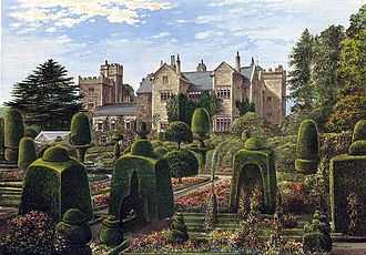 James Grahme - The garden at Levens Hall, c.1880