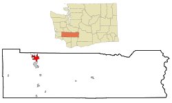 Location of Centralia, Washington