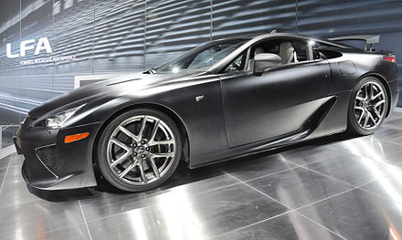 A Matte Black Lexus LFA At The 2010 Chicago Auto Show