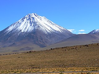 Licancabur stratovolcano on the border between Bolivia and Chile