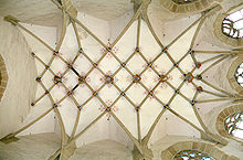 Rib Vault Ceiling, With Lierne Ribs, Of The Liebfrauenkirche, Mühlacker  1482.