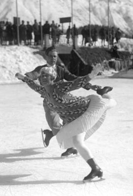 Lilly Scholz and Otto Kaiser at the 1928 Winter Olympics.jpg