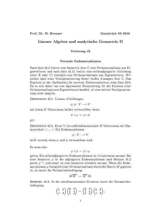 Lineare algebra 1 vorlesung online dating 5
