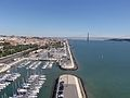 "Lisbon - Tagus River - View from Monument to the Discoveries - Marina and ""25th of April"" Bridge (7857525196).jpg"