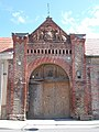 Listed gate of the former Shooting Range. - 42 Petőfi St., Esztergom, Hungary.jpg