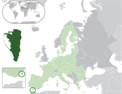 Location of  Gibraltar  (dark green)– in Europe  (light green & dark grey)– in the European Union  (light green)  —  [Legend]