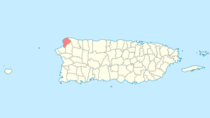 Location of Aguadilla in Puerto Rico