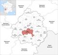 Locator map of Kanton Périgord Central 2019.png