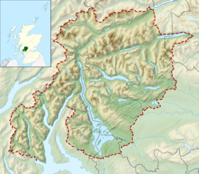 Map showing the location of Loch Lomond and The Trossachs National Park