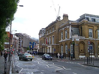 London Nautical School - School entrance in Stamford Street