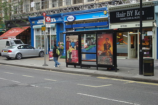 London Buses Boundary Road bus stop F 011