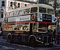 London Transport Routemaster bus RM2191 (CUV 191C) Shillibeer livery, Oxford Street, route 137, September 1979.jpg