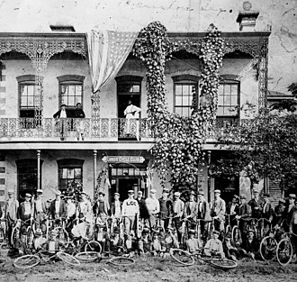 Cycling club - Lord's Cycling Club in Houston, Texas (1897)