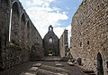 Lorrha Priory of St. Peter View from the Choir Into the Nave 2010 09 04.jpg