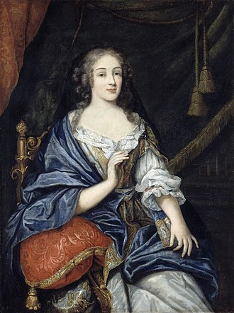 Louise de La Vallière - Portrait by Jean Nocret, 1661.