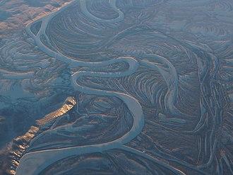 Koyukuk National Wildlife Refuge - Aerial view of the lower Koyukuk River floodplain