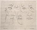 Lower parts of the face; outlines. Engraving after C. Le Bru Wellcome V0009410.jpg
