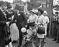 Lustrum Amsterdamse studenten, opening door prins Bernha prinsessen Beatrix en I, Bestanddeelnr 914-0491.jpg
