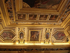 Luxembourg Palace - Ceiling of the Salle du Livre d'Or.