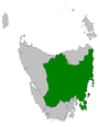 Map showing the division of Lyons in Tasmania
