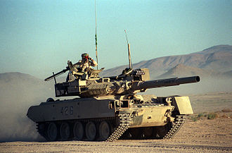 M551 Sheridan - A Sheridan visually modified to represent a T-80 during an exercise in 1993