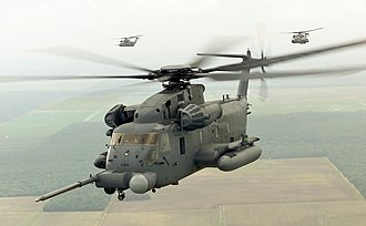 Air Force Special Operations Command - MH-53J Pave Low III helicopters near Hurlburt Field, circa 2001; upgraded to MH-53M Pave Low IV configuration, the last examples were retired from AFSOC service in late 2008 and replaced by the  CV-22B Osprey
