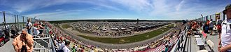 Michigan International Speedway - MIS pano 2014 race day