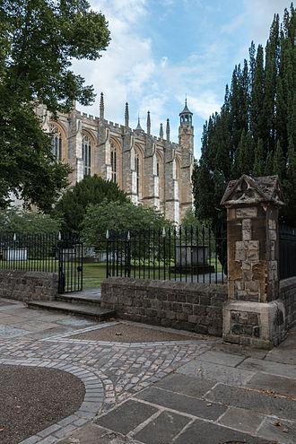 Eton College Chapel - The church yard next to the chapel.
