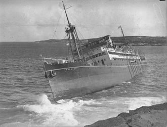 Malabar, New South Wales - The wreck of the Malabar
