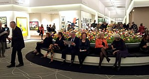 The European Fine Art Fair - Visitors taking a break at TEFAF 2014
