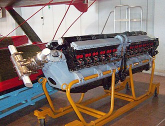 "Multi-cylinder engine - A Fiat AS.6 engine for a Macchi-Castoldi M.C.72 racing seaplane. While it is often considered a ""V24 engine"", it is actually two V12 engines bolted together in tandem, driving separate crankshafts."