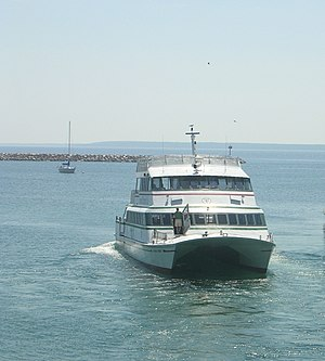 Grand Hotel (Mackinac Island) - A catamaran used to transport people to and from the island
