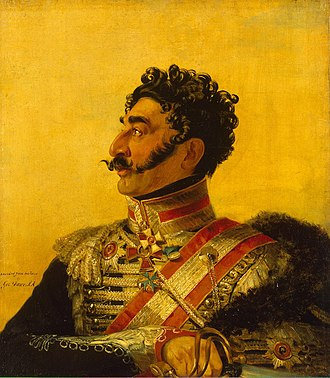 Valerian Madatov - Portrait of General Valerian Madatov by George Dawe from the Military Gallery, 1820.