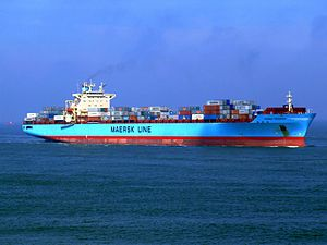 Maersk Greenock p6 approaching Port of Rotterdam, Holland 08-Apr-2007.jpg