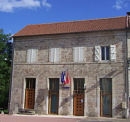 The town hall in Thémines