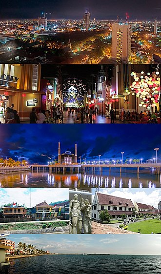 Makassar - From top, left to right: