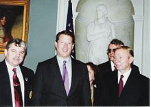 National Commander Miroslaus Malaniak (left) of NY Post 23, met with Vice President Al Gore and Ukraine President Leonid Kuchma at the White House in Washington DC on November 22, 1994.