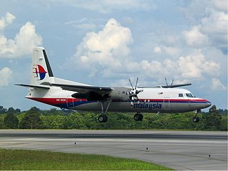Malaysia Airlines Flight 2133 - A Malaysia Airlines Fokker 50 similar to the one which crashed.