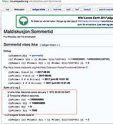 Warning Example From Nowikipediaorg Wiki MaldiskusjonSommertid